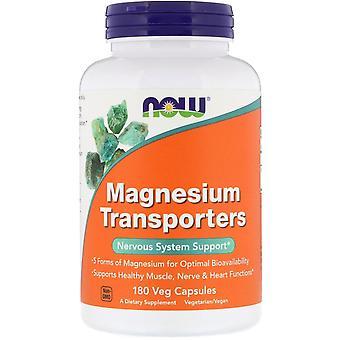 Now Foods, Transportadores de Magnesio, 180 Cápsulas Veg