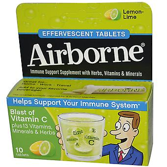AirBorne, Explosion von Vitamin C, Zitronen-Limette, 10 Brausetabletten