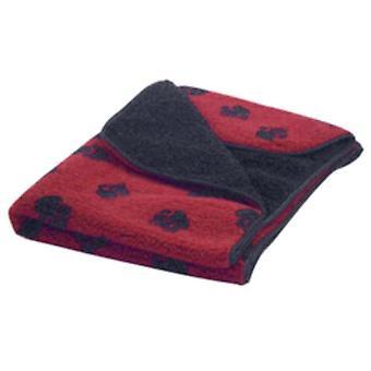 Dänisches Design Fleece Decke - rot - Medium