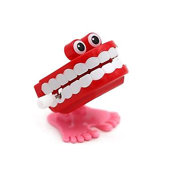 Jump Teeth Clockwork Toy Teeth Moule, Tooth Doll Jumping Teeth Halloween