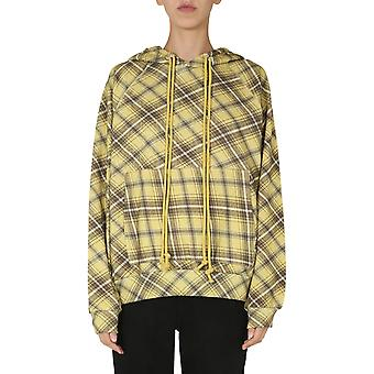 Dries Van Noten 111771621976 Women's Yellow Cotton Sweatshirt