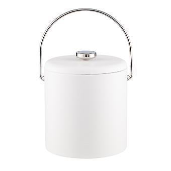 Contempo White 3Qt. Ice Bucket With Thick Vinyl Lid , Bale Handle, No Trim