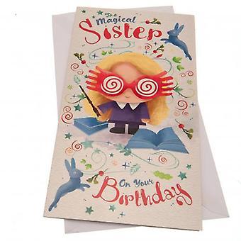 Harry Potter Birthday Card Sister