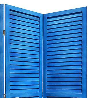 3 Panel Light Blue Shutter Screen Room Divider