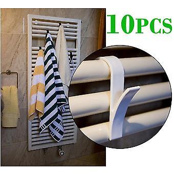4kpl korkealaatuinen koukun ripustin lämmitetylle pyyhepattterille, kiskokylpykoukun pidike