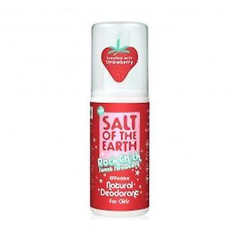 ملح الأرض-روك الفرخ حلوى الفراولة مزيل العرق رذاذ 100 مل