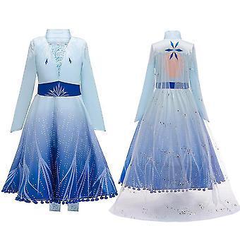 Girls Frozen Queen Elsa Cosplay Fancy Dress Party Costume & Accessories