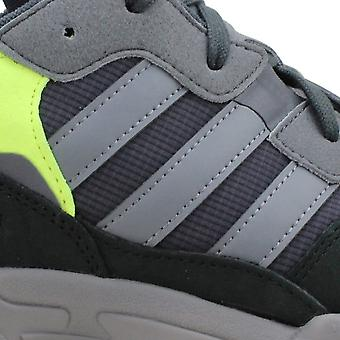 Adidas Yung-96 Carbon/Grey Four-Slime Yellow F97180 Men's