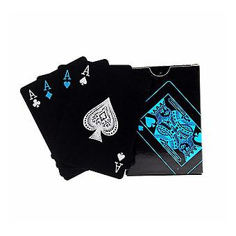 55PCS PVC Playing Cards Games Poker Waterproof Playing Cards Blue