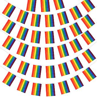 TRIXES Pride Flag Bunting Flags 1 x Large Flag 1 x 10M 38 Rainbow Decoration