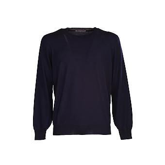 Brunello Cucinelli M2400100ca058 Men's Blue Wool Sweater
