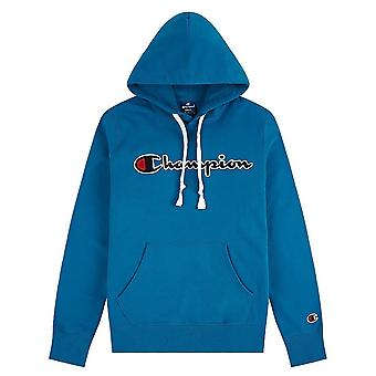 Champion Script Logo Fleece Hoodie 214718BS092 universal all year men sweatshirts