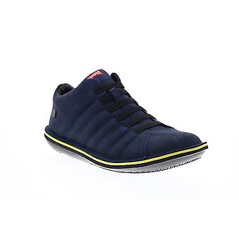 Camper Beetle  Mens Blue Suede Lace Up Euro Sneakers Shoes