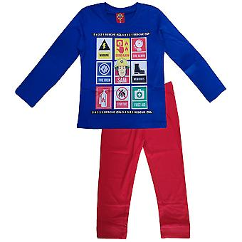 Fireman sam boys (3-9) pyjama set long sleeve fms115pyj