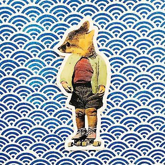 Adesivo de vinil roller skate fox