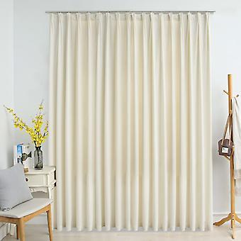 vidaXL rideau d'obscurcissement avec crochet velours crème 290 x 245 cm