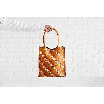 Naturally Dyed And Lovingly Handwoven - Tote Bag