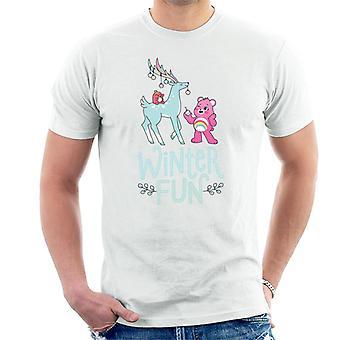 Hoitokarhut Avaa Magic Christmas Winter Fun Men's T-paita
