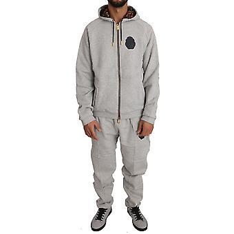 Pantaloni pulover din bumbac gri trac59586135