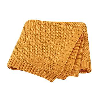 Baby Knitted Newborn Swaddle Wrap Stroller Blankets, Soft Infant Bedding