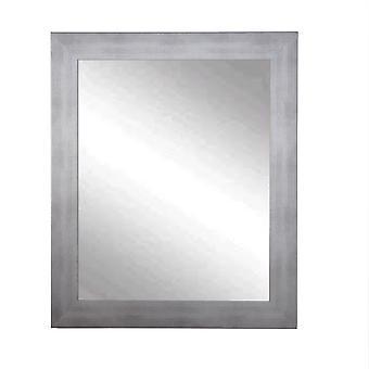 Timberwolf Silver Framed Vanity Wall Mirror 32''X 36''