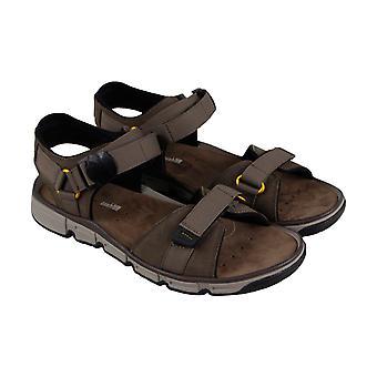 Clarks Explore Part Mens Brown Nubuck Sport Sandalen Sandalen Schuhe
