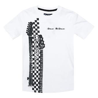 Boy's Ben Sherman Junior Neck og head T-shirt i hvid
