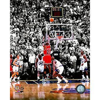 Michael Jordan 1998 NBA Finals Spiel zu gewinnen Schuss Fotoabzüge
