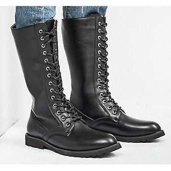 عالية أعلى الصحراء التكتيكية الأحذية العسكرية الرجال & apos;ق الأحذية الجلدية دراجة نارية أحذية