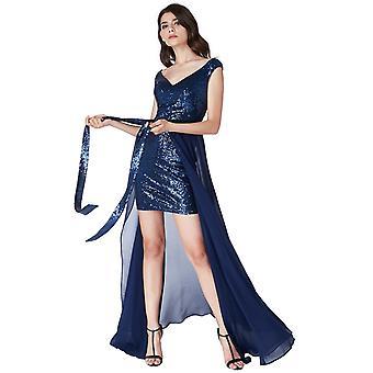 2 In 1 sequin chiffon mini dress