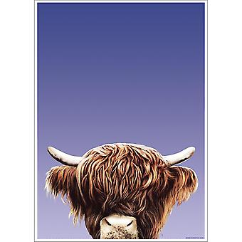 Inquisitive Creatures Highland Cow Poster