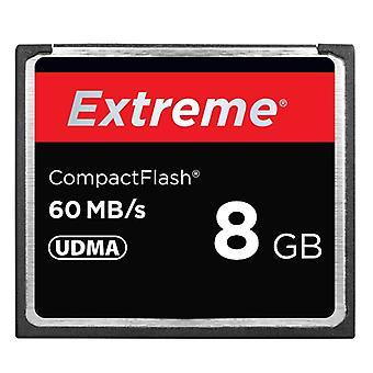 8 Gt Extreme Compact Flash -korttia, 400X lukunopeus, jopa 60 Mt/s (100% todellinen kapasiteetti)