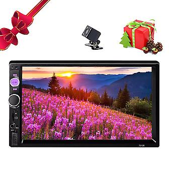 "Radio Multimedia Player Rear View Camera, 7"" Touch Screen 2 Din Car Radio Dash"