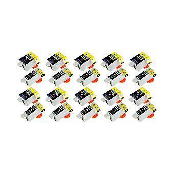 RudyTwos 10 x korvaaja Kodak 30B 30C Aseta muste yksikkö musta & kolmivärinen yhteensopiva ESP C100, C110, C115, C300, C310, C315, C330, C360, 1.2, 3.2, 3.2S, Office 2100, 2150, 2170 AIO, sankari 2.2, 3.