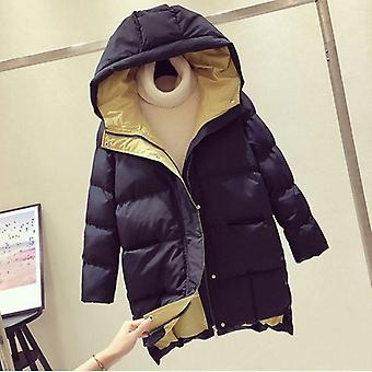 Winter Jacket Long Hooded Cotton Padded Coat High-quality Warm Outwear