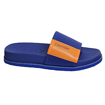 Calvin Klein Mackee Nappa Water Transfer Lo Blue Mens Slip On Flip Flop F0985