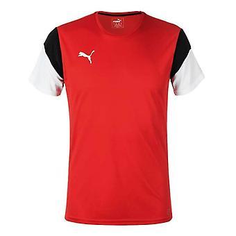Puma رجال تدريب كرة القدم تي عارضة قصيرة الأكمام تي شيرت الأحمر 654915 01