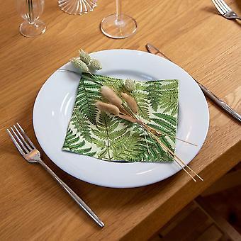 Fern Leaf Paper Napkins | Botanical Birthday Wedding Party Tableware x20