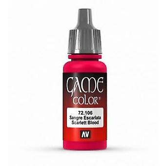 Vallejo Game Color 17ml Acrylic Paint 106 Scarlett Blood