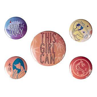 Disney Princess This Girl Can Mulan Badge (Pack of 5)