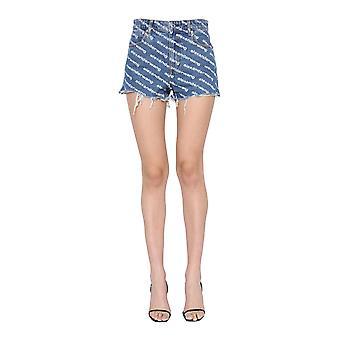 Alexander Wang 4dc1214897460 Pantaloncini di cotone blu da donna