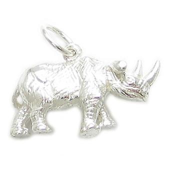 Rhinoceros Sterling Silver Charm .925 X 1 Rhino Charms - 303
