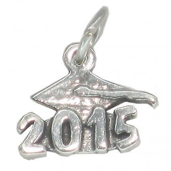 2015 Graduation Mortarboard Strlng Silver Charm .925 X1 Graduate Charms - 4363