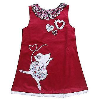 Κορίτσια αμάνικο κέντημα floral φόρεμα