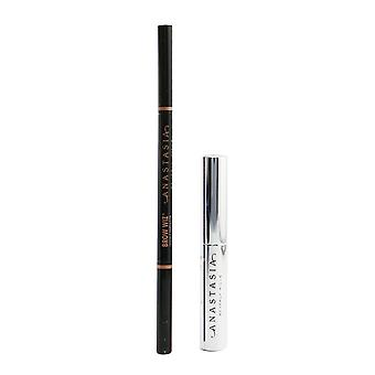Better together brow kit # dark brown (1x brow wiz 0.085g + 1x mini clear brow gel 2.5ml) 259753 2pcs