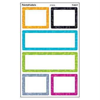 Etiquetas pintadas de color Harmony Pegatinas Supershapes - Grande, 24 Count