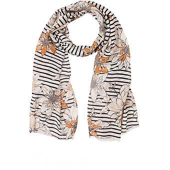 Olsen Striped Floral Design Scarf