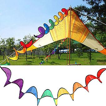 Foldable Rainbow Spiral Windmill Tent Colorful Beautiful Spinner Garden Home