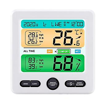 Digital hygrometer lcd electronic digital temperature humidity meter thermometer hygrometer indoor outdoor weather station clock