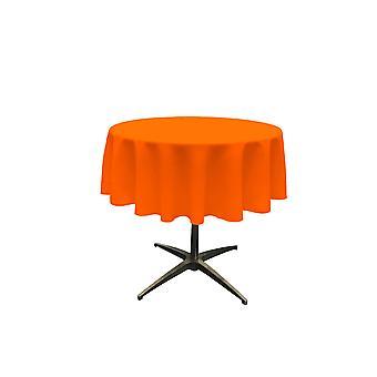 La Lino Poliéster Poplin Mantel 51 pulgadas redondo, naranja